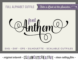 full alphabet svg fonts cutfile fancy script cricut font