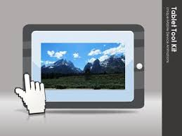 tablet tool kit a powerpoint template from presentermedia com