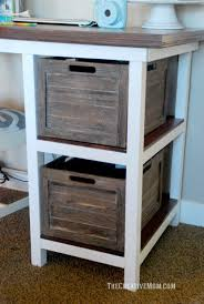 Building A Wooden Desktop by Diy Farmhouse Desk Free Building Plans The Creative Mom