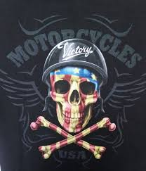 black victory motorcycles xl t shirt tee killer skull graphic on