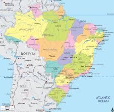 map of brazil detailed political map of brazil ezilon maps