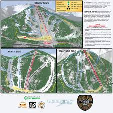 Map Of Idaho And Montana by Trail Map Lookout Pass Ski U0026 Recreation Area