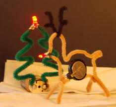pipe cleaner led christmas decorations 4 steps