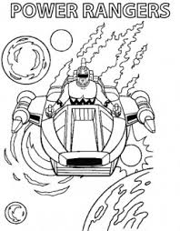 power ranger ride power rangers coloring pages free printable