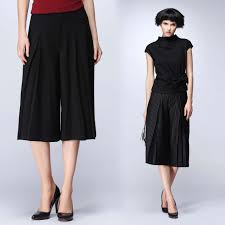 new wide leg pants women white linen black dress pants calf length