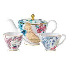 teapot set wedgwood butterfly bloom 3 set teapot sugar and