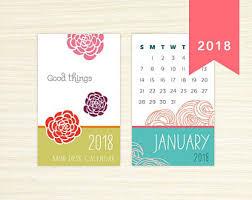 Small Easel Desk Calendar Mini Desk Calendar Etsy