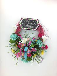 he is risen wreath easter wreath pink spring wreath chalkboard