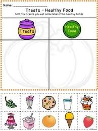 this free sorting activity for healthy not healthy foods perfect