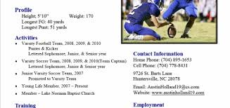 Sample Athletic Resume by Resume Examples 10 Best Ever Pictures And Images As Examples Of
