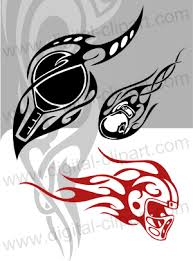 tribal sport vector clipart for professional use vinyl