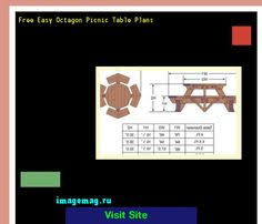 Free Large Octagon Picnic Table Plans by Octagon Picnic Table Plans Free Walk 163653 The Best Image