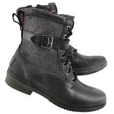 motorcycle boots australia ugg australia women u0027s kesey blk leather waterproof lace up boots