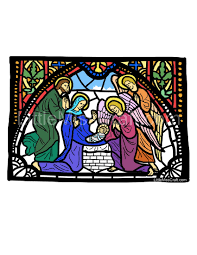 crafts nativity angels stained glass coloring page