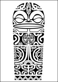 polynesian shoulder tattoo design with marquesan crosses tiki