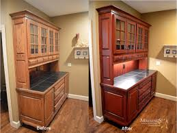 Refinish Kitchen Cabinets Before And After Cabinet Refinishing Before And After