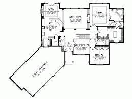 ranch floor plans with walkout basement strikingly design 1 ranch floor plans with angled garage walkout