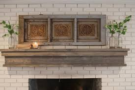 decorating brick wall fireplace with rustic fireplace mantels and