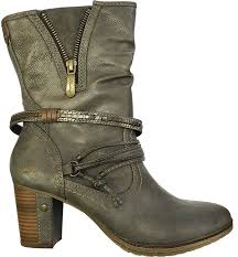 s designer boots sale uk mustang 1199 515 20 dunkelgrau womens gey boots s shoes