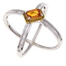diamond x ring rarities colored gemstone and diamond x design sterling silver