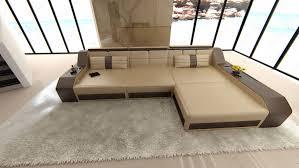 sofa l form modern sectional sofa arezzo l shaped with led lights sandbeige
