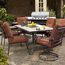 K Mart Patio Furniture Jaclyn Smith Clermont Dining Table With Ceramic Tiled Top Kmart