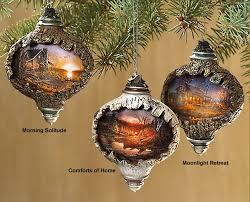 christmas ornaments unique terry redlin s unique lighted christmas ornaments country