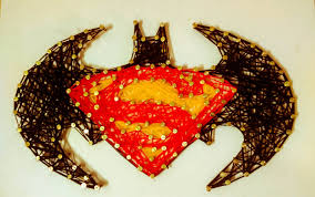 batman vs superman string art ideas batman vs superman badge