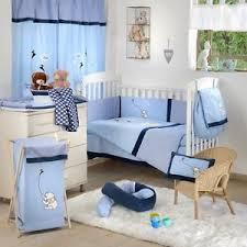 Pooh Crib Bedding 4 Baby Crib Bedding Set Disney Blue Winnie The Pooh Kite Ebay