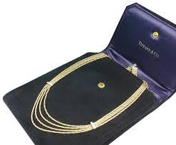 diamond box necklace images Tiffany co vintage 18k gold diamond multi strand chain necklace jpg