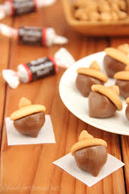 Easy No Bake Halloween Treats Tootsie Roll Acorns Amy U0027s Healthy Baking