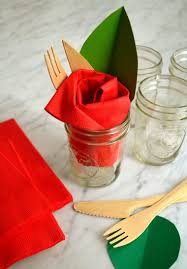 pliage de serviette en papier 2 couleurs feuille pliage serviette papier idées faciles et modèles