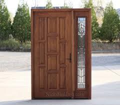 Exterior Wooden Door Mahogany Exterior Doors With 1 Sidelight