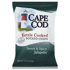 cape cod sweet and spicy jalapeno kettle cooked potato chips