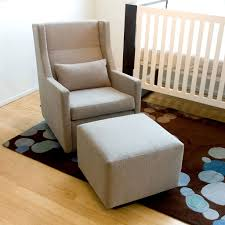 Rocking Chairs For Nurseries Charming Neutral Style Wingback Rocking Chair With Ottoman In Baby