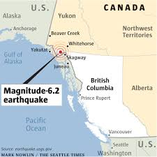 Map Of Southeast Alaska by Quake Near Canada Border Jolts Yukon Southeast Alaska The