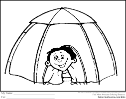 kids camping coloring page free download