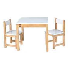 Table And Chair Sets Wooden Table And Chair Set White Easels U0026 Tables By Alex Toys