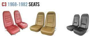 1968 corvette seats corvette parts c3 1968 1982 seats