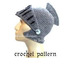 crochet pattern knight helmet free king arthur helmet etsy