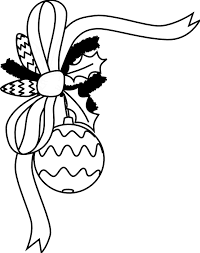 christmas tree ornaments clipart black white clipground