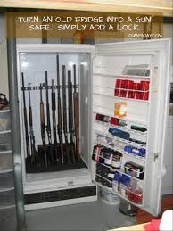 Building A Gun Cabinet Turn An Old Fridge Into A Gun Safe Just Add A Lock Dump A Day