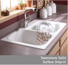 brown kitchen sinks swan