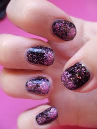how to get pink and black glitter nails u2013 chyaz