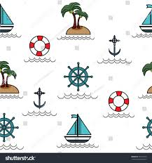 Nautical Home Decor Fabric by Nautical Pattern Inspired Small Boats On Stock Vector 357231623