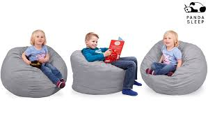 amazon com oversized bean bag chair in steel grey machine