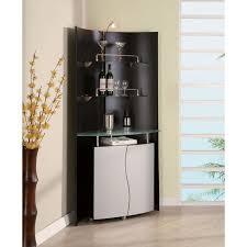 corner bar cabinet black dayane bar cabinet with display gotofurniture