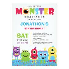 monster birthday invitations u0026 announcements zazzle