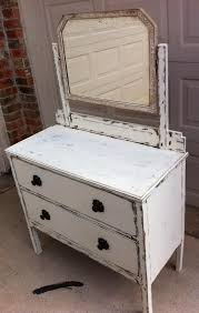 dresser with desk attached darling dresser with attached mirror redone in a white and shabby