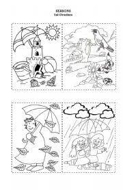 seasons worksheet by miss catyka